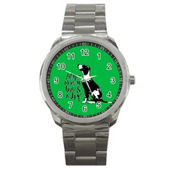 Dog Person Sport Metal Watch by Valentinaart