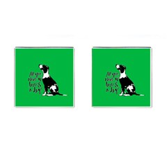 Dog Person Cufflinks (square) by Valentinaart
