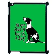 Dog Person Apple Ipad 2 Case (black) by Valentinaart