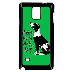 Dog Person Samsung Galaxy Note 4 Case (black) by Valentinaart