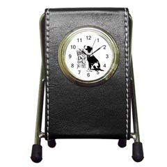Dog Person Pen Holder Desk Clocks by Valentinaart