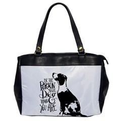 Dog Person Office Handbags by Valentinaart