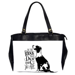 Dog Person Office Handbags (2 Sides)  by Valentinaart