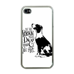 Dog Person Apple Iphone 4 Case (clear) by Valentinaart