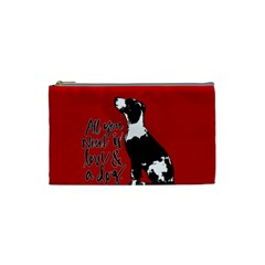 Dog Person Cosmetic Bag (small)  by Valentinaart
