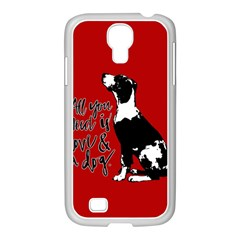 Dog Person Samsung Galaxy S4 I9500/ I9505 Case (white) by Valentinaart