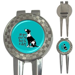 Dog Person 3 In 1 Golf Divots by Valentinaart