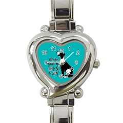 Dog Person Heart Italian Charm Watch by Valentinaart
