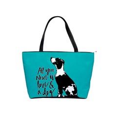 Dog Person Shoulder Handbags by Valentinaart