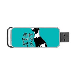 Dog Person Portable Usb Flash (one Side) by Valentinaart