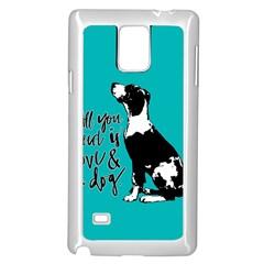 Dog Person Samsung Galaxy Note 4 Case (white) by Valentinaart