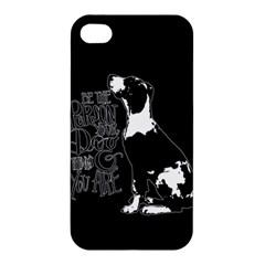 Dog Person Apple Iphone 4/4s Premium Hardshell Case by Valentinaart