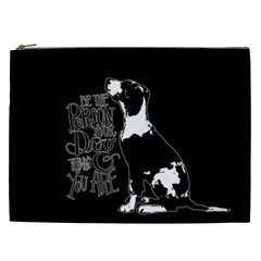 Dog Person Cosmetic Bag (xxl)  by Valentinaart