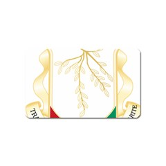 Coat Of Arms Of Republic Of Guinea  Magnet (name Card) by abbeyz71