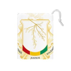 Coat Of Arms Of Republic Of Guinea  Drawstring Pouches (medium)  by abbeyz71