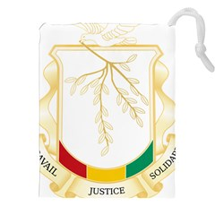 Coat Of Arms Of Republic Of Guinea  Drawstring Pouches (xxl) by abbeyz71