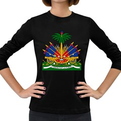 Coat Of Arms Of Haiti Women s Long Sleeve Dark T Shirts by abbeyz71