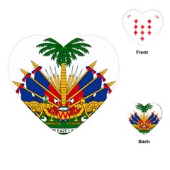 Coat Of Arms Of Haiti Playing Cards (heart)  by abbeyz71