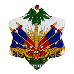 Coat Of Arms Of Haiti Snowflake Ornament (two Sides) by abbeyz71