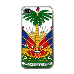 Coat Of Arms Of Haiti Apple Iphone 4 Case (clear) by abbeyz71