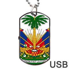 Coat Of Arms Of Haiti Dog Tag Usb Flash (two Sides) by abbeyz71