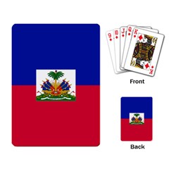 Flag Of Haiti  Playing Card by abbeyz71