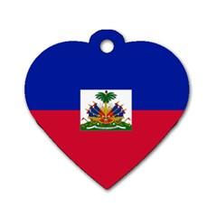 Flag Of Haiti  Dog Tag Heart (one Side) by abbeyz71