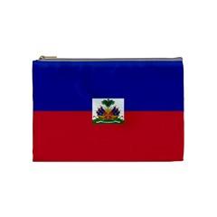 Flag Of Haiti  Cosmetic Bag (medium)  by abbeyz71