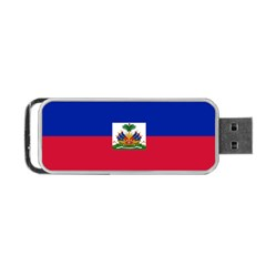Flag Of Haiti  Portable Usb Flash (one Side) by abbeyz71
