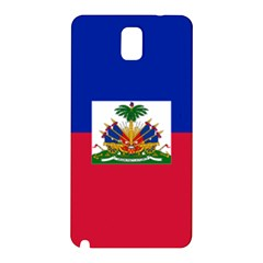 Flag Of Haiti  Samsung Galaxy Note 3 N9005 Hardshell Back Case by abbeyz71