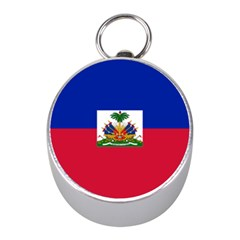 Flag Of Haiti  Mini Silver Compasses by abbeyz71
