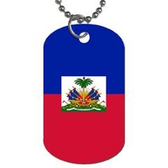 Flag Of Haiti Dog Tag (one Side) by abbeyz71