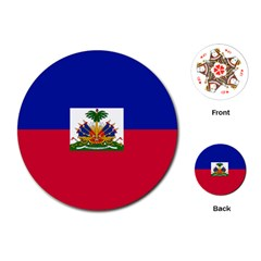 Flag Of Haiti Playing Cards (round)  by abbeyz71