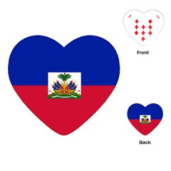 Flag Of Haiti Playing Cards (heart)  by abbeyz71