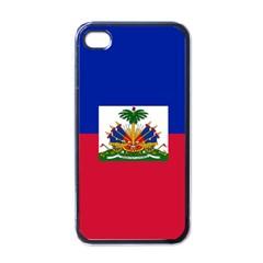 Flag Of Haiti Apple Iphone 4 Case (black) by abbeyz71
