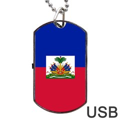 Flag Of Haiti Dog Tag Usb Flash (one Side) by abbeyz71