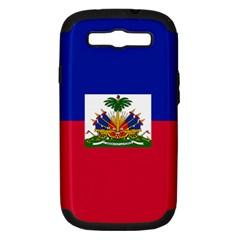 Flag Of Haiti Samsung Galaxy S Iii Hardshell Case (pc+silicone) by abbeyz71