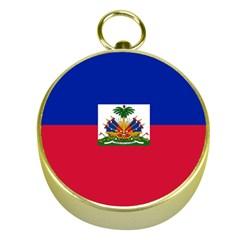 Flag Of Haiti Gold Compasses by abbeyz71