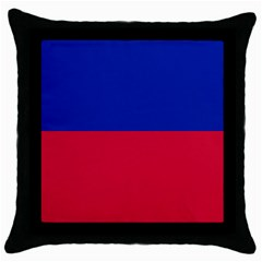 Civil Flag Of Haiti (without Coat Of Arms) Throw Pillow Case (black) by abbeyz71