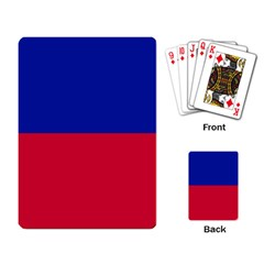 Civil Flag Of Haiti (without Coat Of Arms) Playing Card by abbeyz71