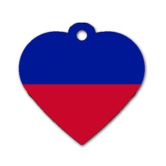 Civil Flag Of Haiti (without Coat Of Arms) Dog Tag Heart (two Sides) by abbeyz71