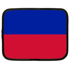 Civil Flag Of Haiti (without Coat Of Arms) Netbook Case (xxl)  by abbeyz71