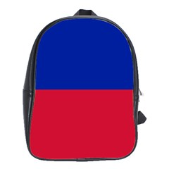 Civil Flag Of Haiti (without Coat Of Arms) School Bags(large)  by abbeyz71