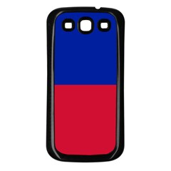 Civil Flag Of Haiti (without Coat Of Arms) Samsung Galaxy S3 Back Case (black) by abbeyz71