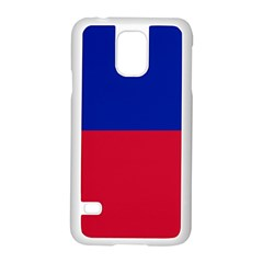 Civil Flag of Haiti (Without Coat of Arms) Samsung Galaxy S5 Case (White)