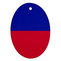 Civil Flag of Haiti (Without Coat of Arms) Ornament (Oval)