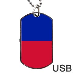 Civil Flag Of Haiti (without Coat Of Arms) Dog Tag Usb Flash (one Side) by abbeyz71
