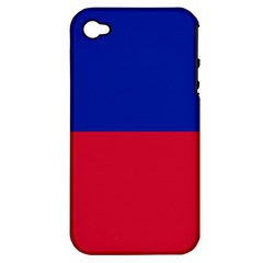 Civil Flag Of Haiti (without Coat Of Arms) Apple Iphone 4/4s Hardshell Case (pc+silicone) by abbeyz71