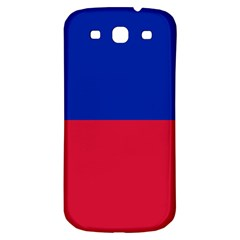 Civil Flag Of Haiti (without Coat Of Arms) Samsung Galaxy S3 S Iii Classic Hardshell Back Case by abbeyz71