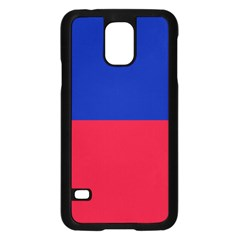 Civil Flag Of Haiti (without Coat Of Arms) Samsung Galaxy S5 Case (black) by abbeyz71